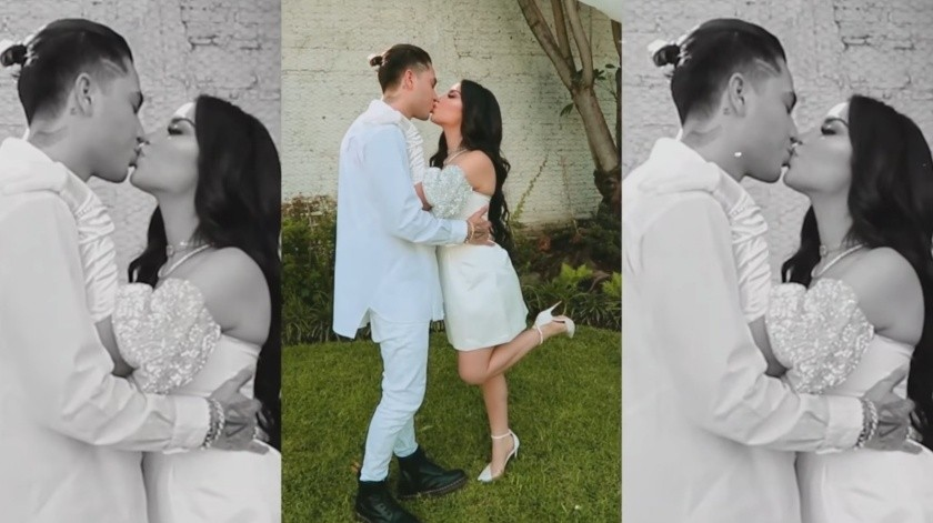 La pareja presumió en redes sociales su boda, mostrando que hubo muy pocos invitados.(Tomada de la red)