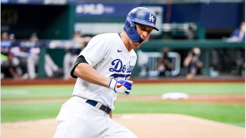 Corey Seager volvió a batear cuadrangular.(@Dodgers)