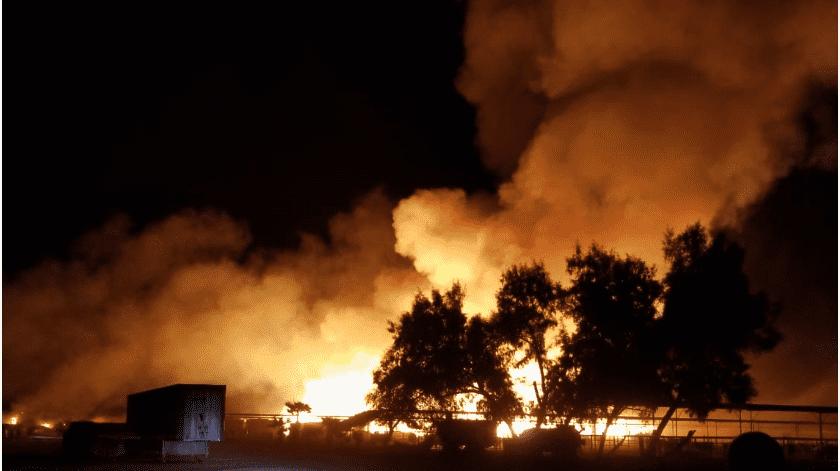 Arden 10 mil pacas en rancho al sur de Mexicali(Cortesía)