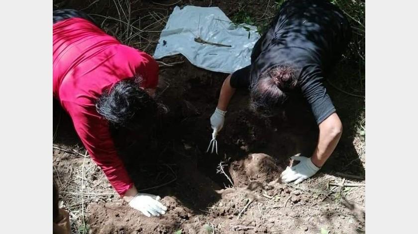 Localizan Rastreadoras de CO restos óseos de una persona en fosa clandestina de Bataconcica(Especial)