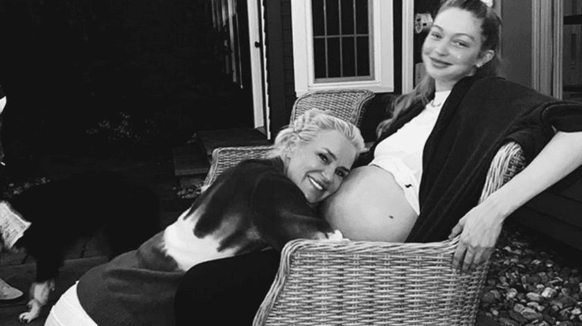 Yolanda Hadid comparte foto con su nieta.