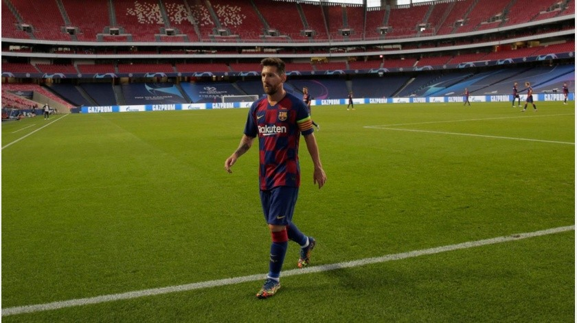 Lionel Messi termina su contrato después de la actual temporada.(AP)