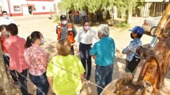 La alcaldesa Célida López supervisó el inicio de la obra de pavimentación de la calle Culiacán.