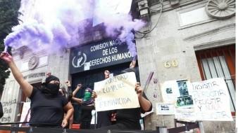 A un mes de oficina tomada por feministas, CNDH anuncia sede transitoria