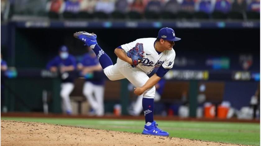 Víctor González forma parte del bullpen de los Dodgers.(Archivo)