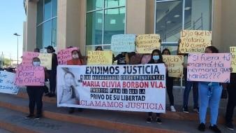 Exigen justicia para  María Olivia Borbón Valenzuela, quien fue privada de su libertad