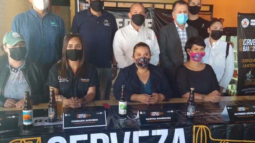 En conferencia de prensa se anunció que 'Rate Beer', la mejor cerveza artesanal de México se produce en Tijuana.(Alejandra Pérez)