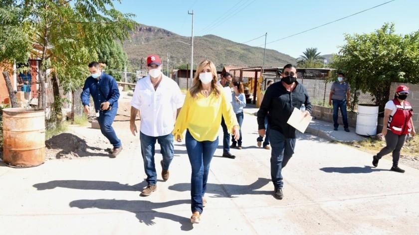 La gobernadora Claudia Pavlovich Arellano realizó ayer una visita a Bacanora, Arivechi y Sahuaripa.(EL IMPARCIAL)