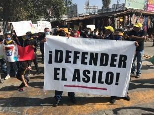 Migrantes exigen a Estados Unidos asilo humanitario