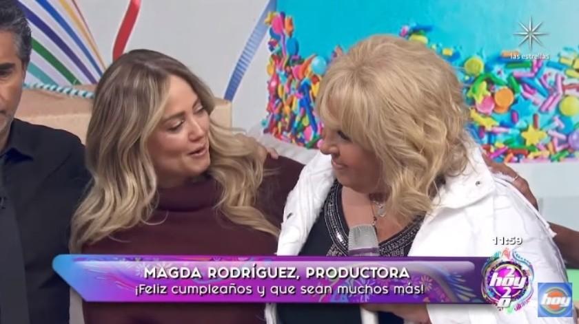 Andrea Legarreta expresa su admiración a Magda.(YouTube)