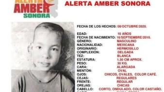 Se activa Alerta Amber para encontrar a Brayan Francisco; desapareció en Hermosillo
