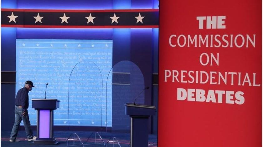 Inicia Debate Final entre Trump y Biden con micrófonos cerrados(EFE)