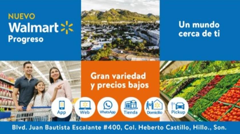Walmart Progreso hoy abre sus puertas en Hermosillo Sonora