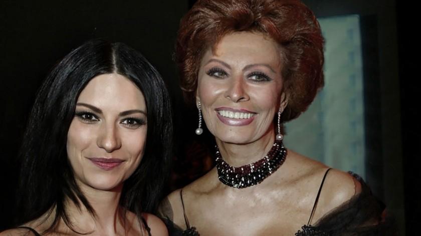 Laura Pausini emocionada de trabajar en la cinta de Sophia Loren.(Cortesía)