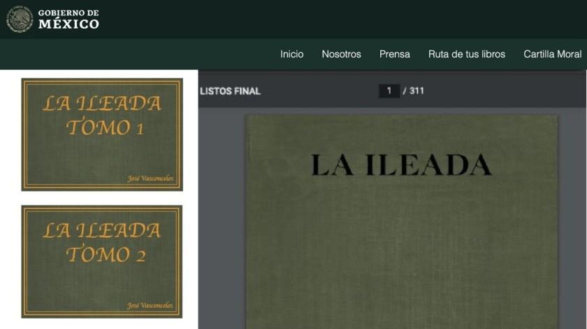"""""""La Ileada"""": SEP elimina libro gratuito por error en nombre de """"La Ilíada"""", de Homero(Gobierno de México)"""