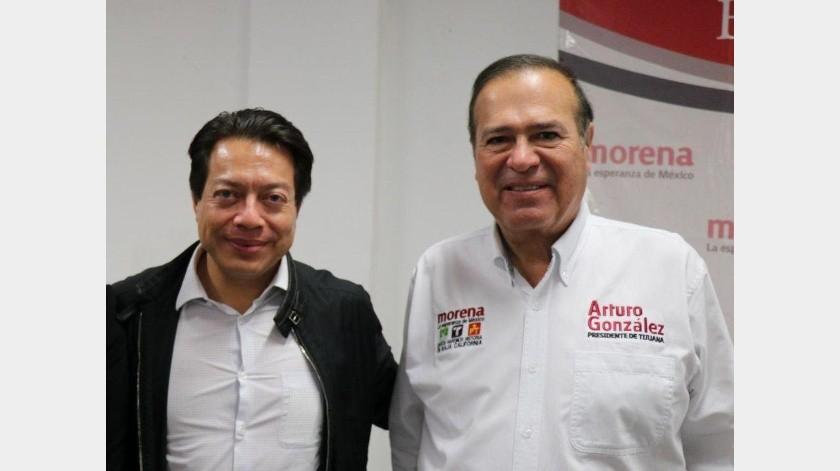Felicita Arturo González a Mario Delgado por ganar dirigencia de Morena(Cortesía)