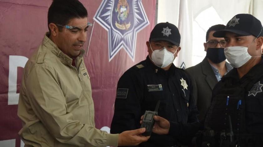 Reconocen labor de policías municipales de Ensenada(Cortesía)