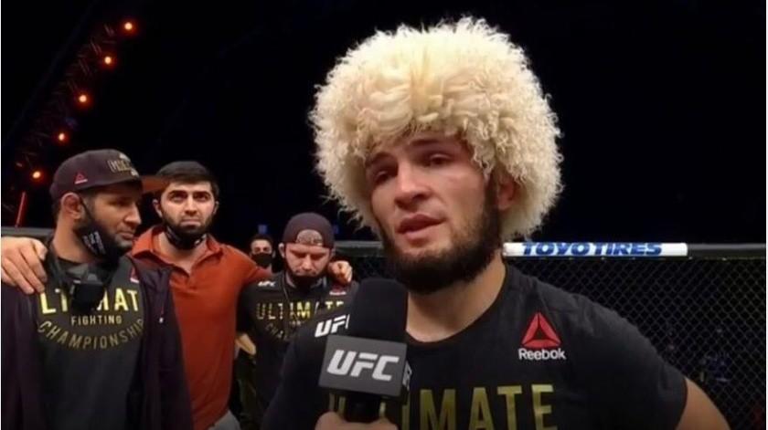 Nurmagomedov conserva su campeonato ligero de la UFC al vencer a Gaethje(Instagram @espnknockout)
