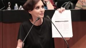 La senadora Lily Téllez podría ser demandada por su homologo de Morena, Alejandro Armenta