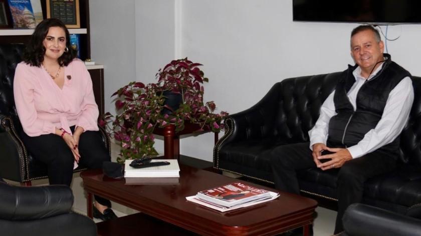Se reúne el senador Gerardo Novelo con Karla Ruíz, alcaldesa de Tijuana
