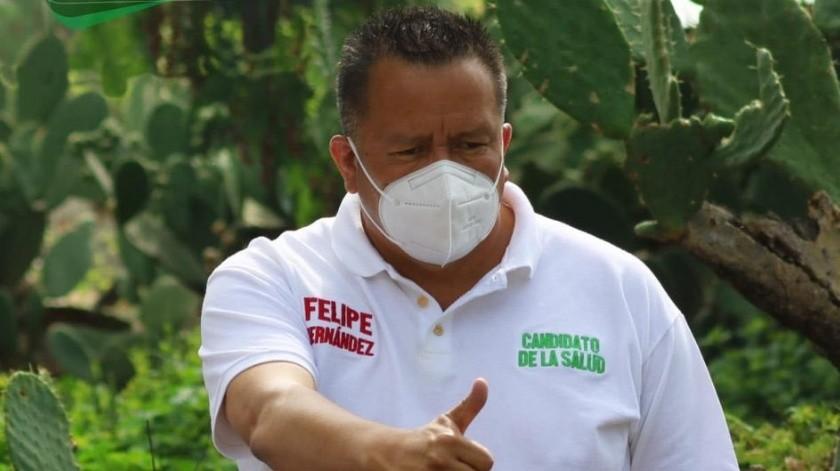 Felipe Hernández el día de la elección fue intubado al agravar su estado de salud(Twitter)