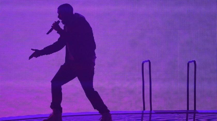 El rapero canadiense Drake durante un concierto.(EFE)
