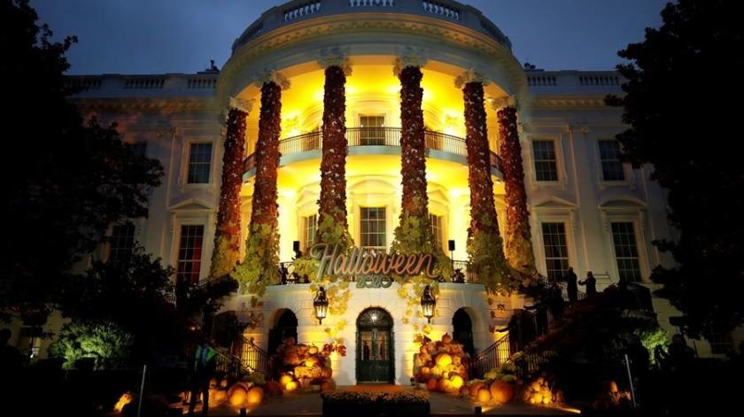 Evento de Halloween en el jardín sur de la Casa Blanca en Washington, DC