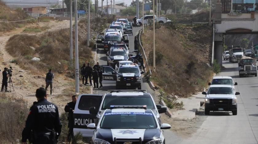 Los sujetos descendieron del auto y trataron de continuar con la fuga a pie por un cañón.(Sergio Ortiz)