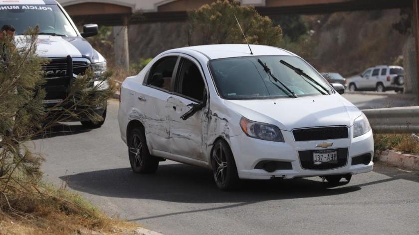 La persecución finalizó a la altura del puente de Colinas de California.(Sergio Ortiz)