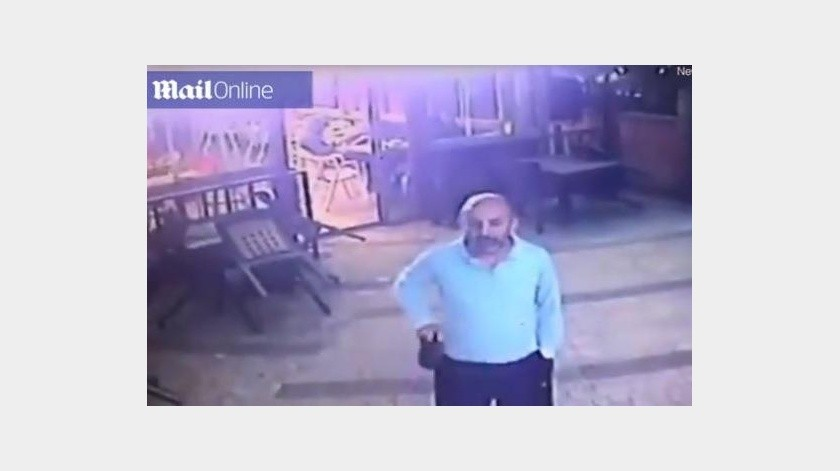 Este hombre se lleva gran susto al ser atacada por este gato(DailyMail)