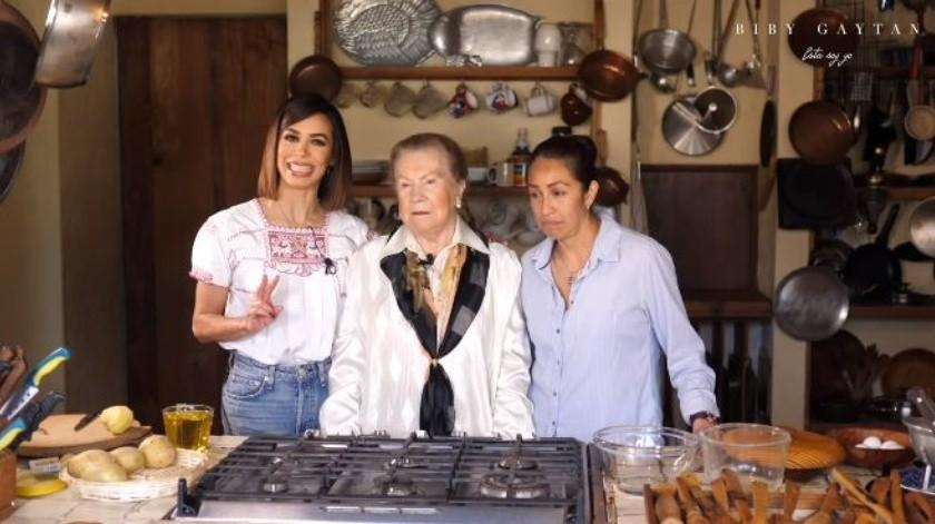 Biby Gaytán comparte receta española(Instagram)