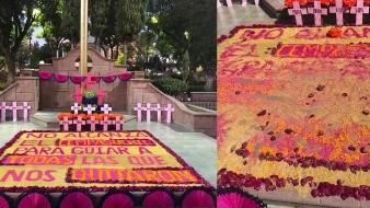 Destruyen en un día ofrenda dedicada a víctimas de feminicidio en México