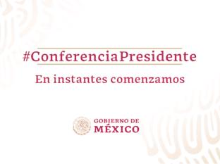 Sigue la conferencia de AMLO desde Palacio Nacional