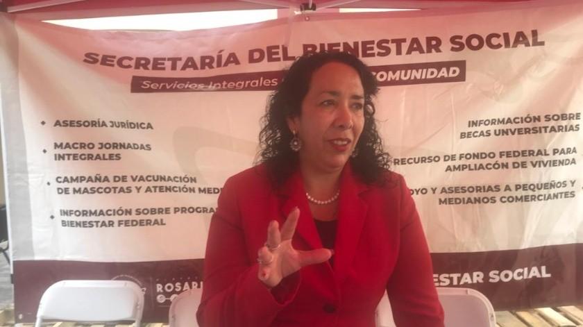 Araceli Brown, alcaldesa de Rosarito.(Carmen Gutiérrez)
