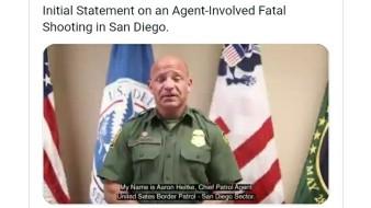 Aunque la Patrulla Fronteriza no realiza la investigación del caso, el jefe local hizo declaraciones.