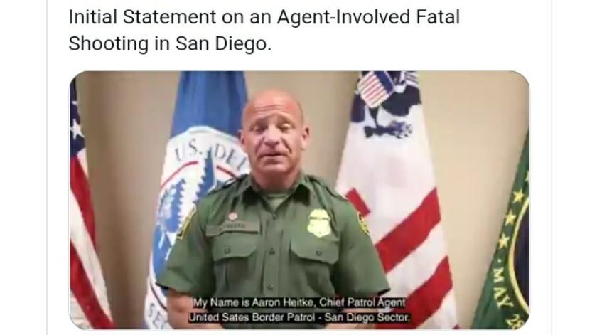 Aunque la Patrulla Fronteriza no realiza la investigación del caso, el jefe local hizo declaraciones.(Cortesia)