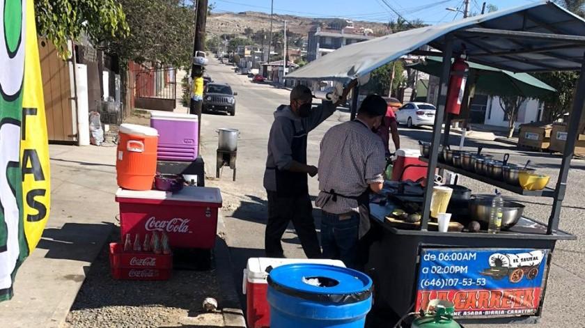Se visitó el mercado común de Maneadero, en el que se no se detectaron irregularidades.(Cortesía)