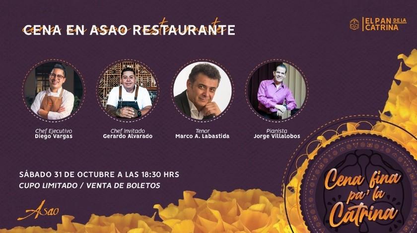 La velada romántica se llevará a cabo el próximo sábado 31 de octubre a partir de las 18:30 horas en el Restaurante Asao(Cortesía)