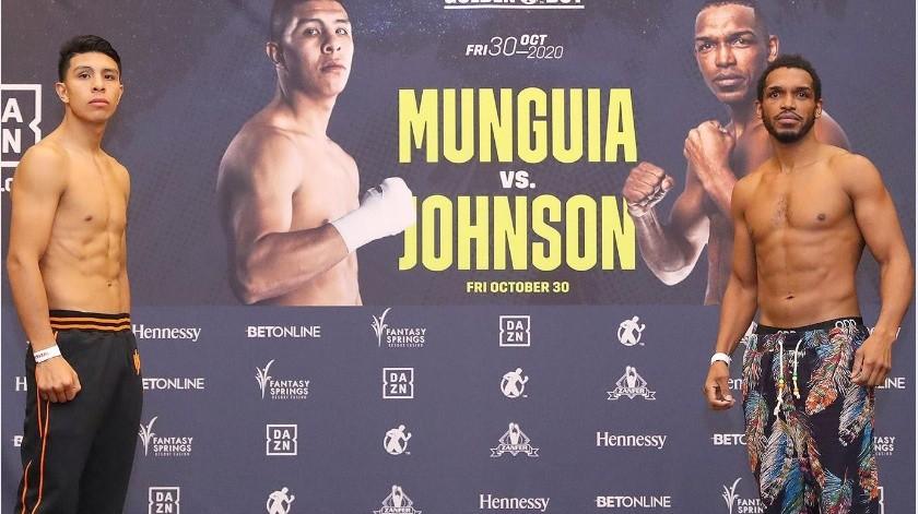 Jaime Munguía y Tureano Johnson libraron la báscula sin problemas.(Cortesía)