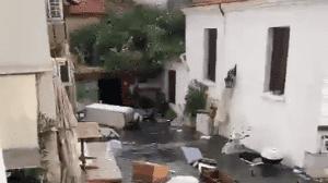 Tras registrarse un terremoto de magnitud 7 en la escala de Richter en Grecia y Turquía, ocurrió un tsunami en el mar Egeo, del cual ya circulan imágenes en redes sociales