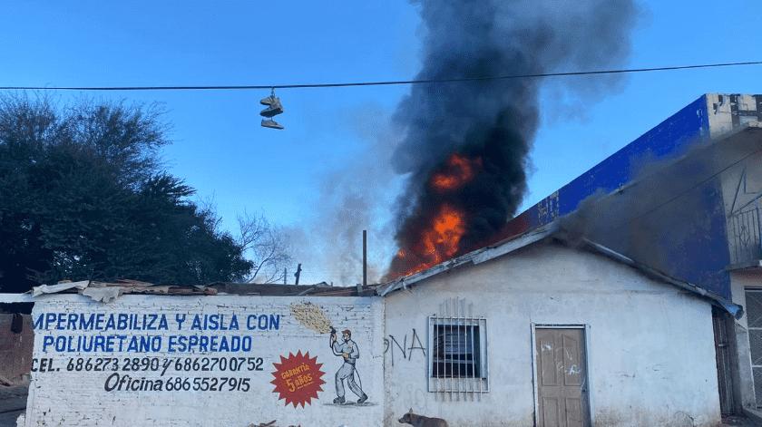 Arden casas en Pueblo Nuevo(Cortesía)