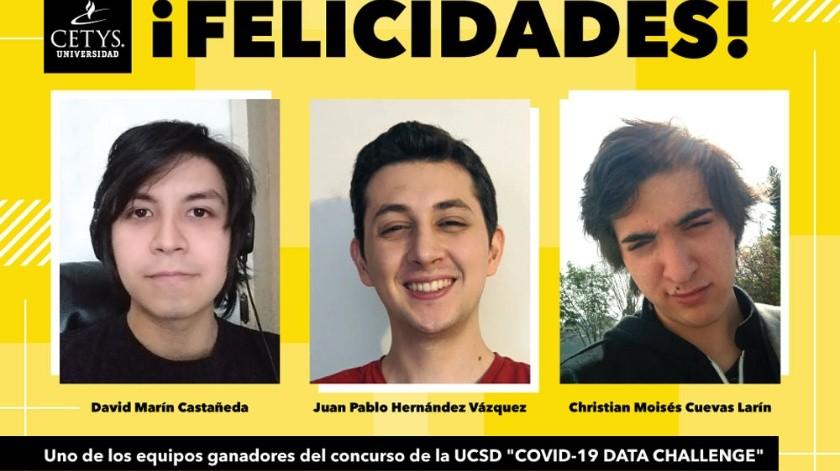 Los ganadores son Christian Cuevas, Juan Pablo Hernández y David Castañeda(Cortesía)