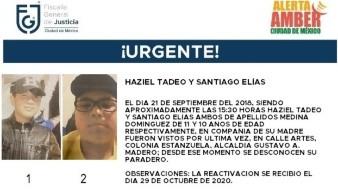Los niños fueron vistos por última vez en la calle Artes, de la colonia Estanzuela, alcaldía Gustavo A. Madero, Ciudad de México.
