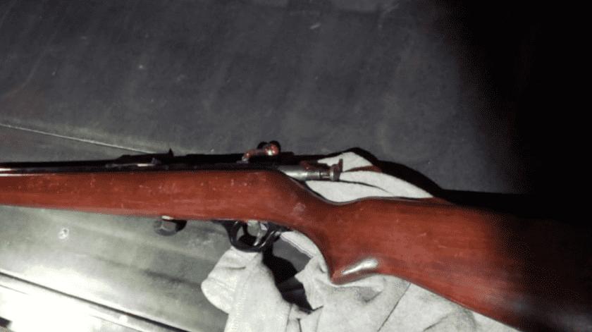 Amenazó a su esposa con un rifle, en SLRC(Cortesía)