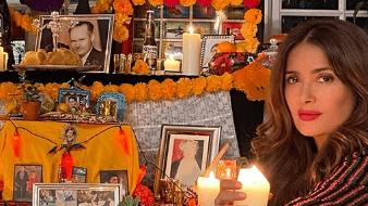 La famosa publicó varias imágenes de su altar en Instagram.