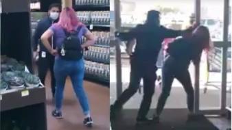 Video: Protagonizan mujer y guardia pelea en tienda de Playas de Tijuana
