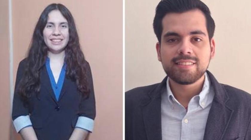 Andrea Angélica Manzanares Muciño y Martín Antonio Leyva Trejo fueron distinguidos.(Mayra Echeverría)