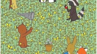 Reto visual: Encuentra la tierna abeja en el campo de flores