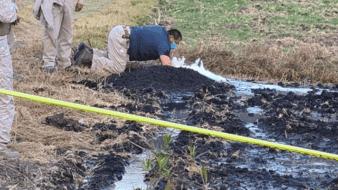 Esta es la segunda fuga de combustible que se registra en la semana, ya que el miércoles se tuvo un incidente en el municipio de Tlaxcoapan.
