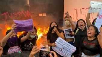 La Policía de Cancún a balazos dispersó una protesta de feministas